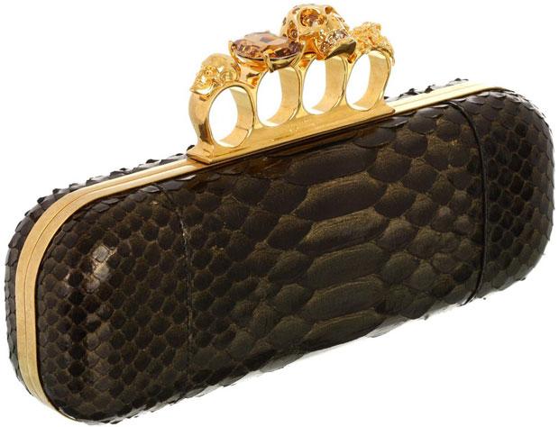 Alexander McQueen Knucklebox python