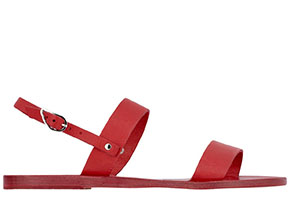 Ancient Greek Sandals red Clio
