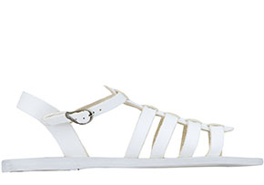 Ancient Greek Sandals Korinna all white