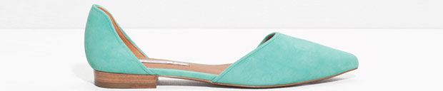And other stories pointed flats green