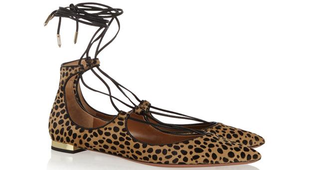 Aquazzura Christy flats leopard
