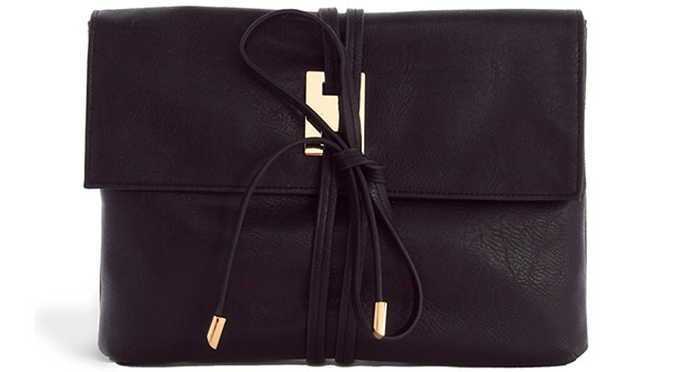 Asos wrap black clutch