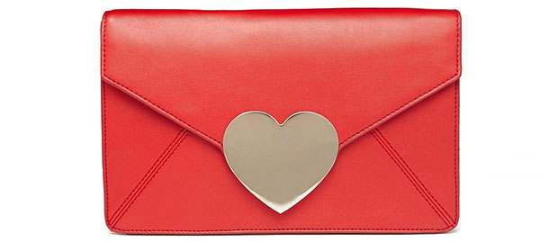 Asos heart clutch envelop