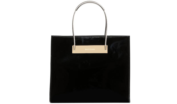 Balenciaga Cable shopper small patent black