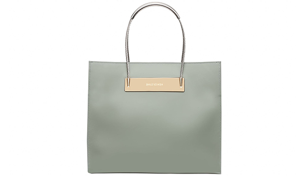 Balenciaga Cable shopper small patent grey