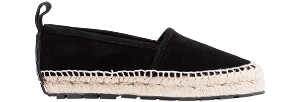 Balenciaga rope track loafers espadrilles black