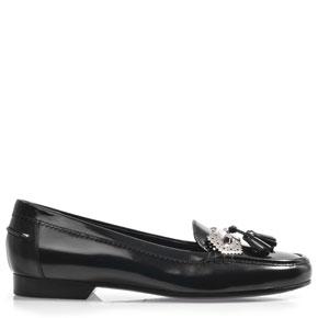 Balenciaga tassled loafers black