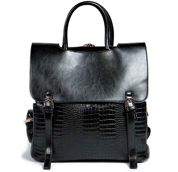 Boohoo lucy backpack black