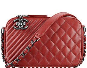 Chanel Cruise Dubai camera case red