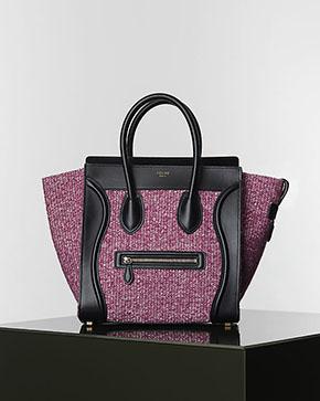 Céline mini luggage tweed winter 2014 pink