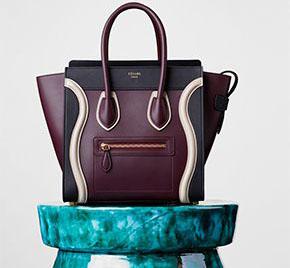 Céline collectie winter 2015 mini luggage burgundy
