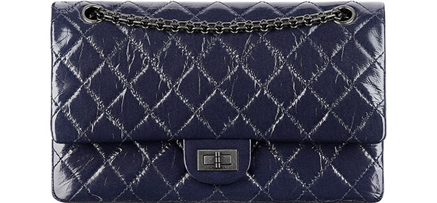 Chanel 2.55 reissue navy ruthenium