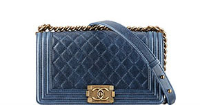 Chanel pre-fall tassen Boy navy caviar