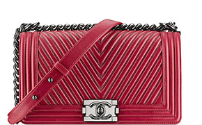 Chanel tassen fall 2014 chevron boy bag