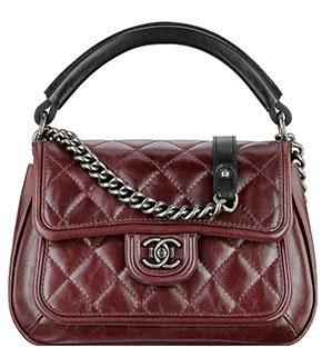 Chanel Boy flap bag rigid handle