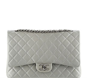 Chanel pre-fall tassen classic flap jumbo grey