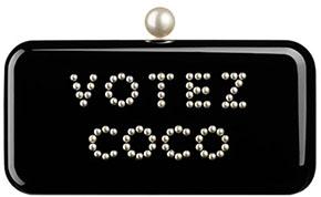 Chanel minaudiere clutch votez coco