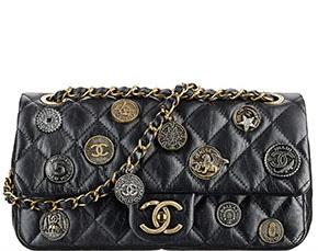 Chanel Cruise Dubai classic flap embellished black