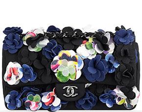 Chanel Cruise Dubai classic flap neoprene flowers