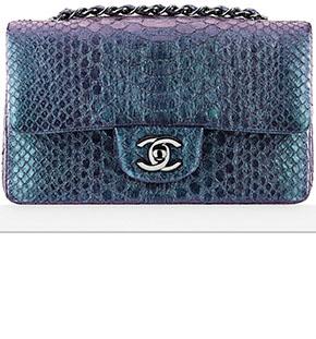 Chanel Cruise Dubai classic flap python medium