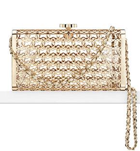 Chanel Cruise Dubai minaudiere gold filigrain