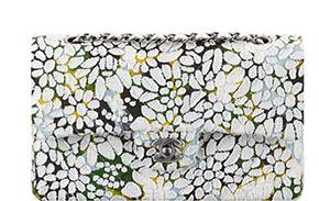 Chanel flap floral tweed