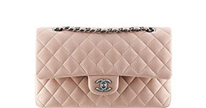 Chanel pre-fall tassen classic flap powder pink