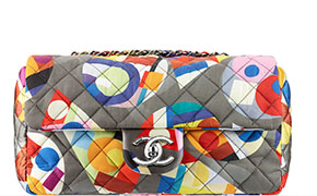 Chanel tassen fall 2014 flap bag printed