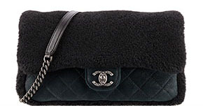 Chanel pre-fall tassen classic flap shearling