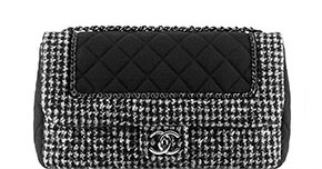 Chanel pre-fall tassen classic flap tweed black
