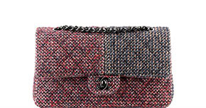 Chanel pre-fall tassen classic flap tweed red