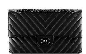 Chanel flap 11.12 Chevron all black