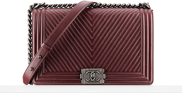 Chanel Boy Bag red herringbone pre-fall 2014