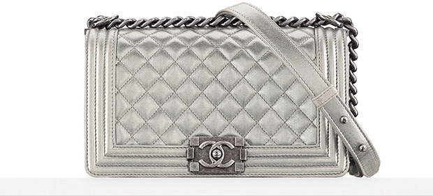 Chanel Boy Bag silver spring 2014