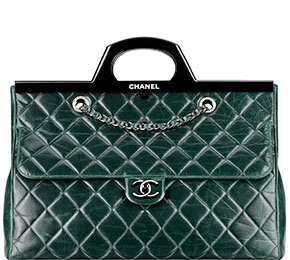 Chanel tassen fall 2014 green shopping bag