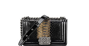 Chanel pre-fall tassen Boy black python