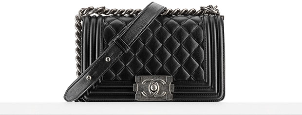 Chanel Boy Bag small black spring 2014