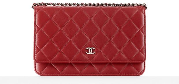 Chanel WOC red lambskin
