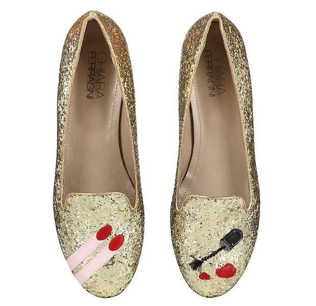 Chiara Ferragni glitter nail polish flats