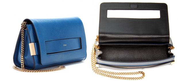 Chloé Elle bag factory blue details