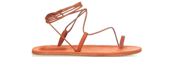 Chloé suede ankle wrap sandals