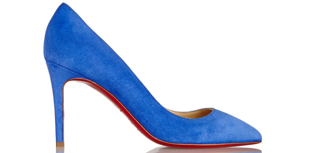 Christian Louboutin Pigalle 85mm suede blue