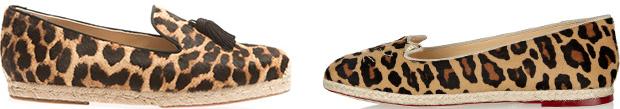 Christian Louboutin Charlotte Olympia luipaardprint espadrilles