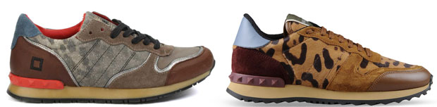 D.A.T.E. sneakers vs Valentino Rockrunner