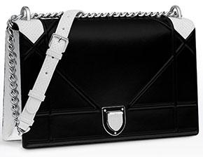 Dior Diorama black white python silver hardware