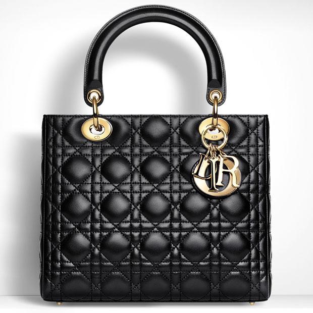 Dior Lady Dior black gold