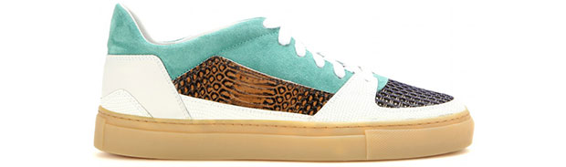 Dries van Noten sneakers python white