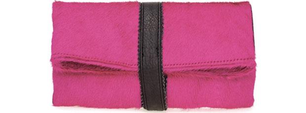 FAB new york pink clutch