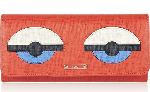 Fendi saffiano Buggies wallet