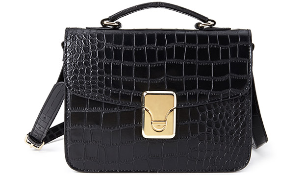 Forever 21 croco satchel crossbody